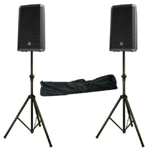 "2 x EV Electro-Voice ZLX-15P 15"" 2000W Active Powered PA Speaker + Stands ZLX15P"